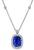 Cushion Cut Ceylon Sapphire Round Cut Diamond Platinum Pendant Necklace