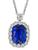 Estate GIA 12.43ct Ceylon Sapphire 4.39ct Diamond Pendant Necklace