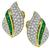 Round Cut Diamond Colombian Emerald 18k Yellow and White Gold Earrings by Tiffany