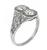 1.11ct Diamond Art Deco Ring