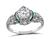 Art Deco GIA Certified 0.82ct Diamond Engagement Ring