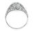 0.91ct Diamond Art Deco Engagement Ring